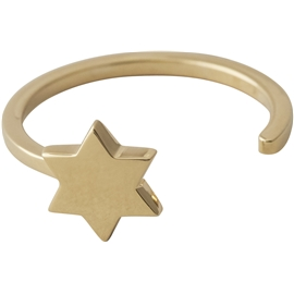 Design Letters Star Ring Gold